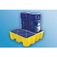 Versatile two and four drum spill pallets