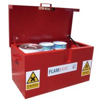 Secure and dead-locked flammable material storage vaults