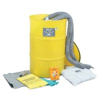 Large drum spill kits for chemical, maintenance and oil spills