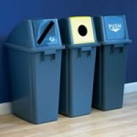 Easy-To-Clean Plastic Recycling Bins