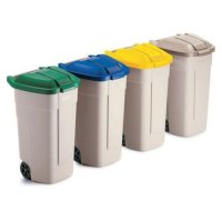 Convenient Beige Rubbermaid Curver Mobile Containers