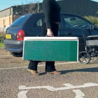 Lightweight Fibreglass Folding Access Ramps
