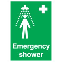 Heavy-duty location sign for Emergency Showers