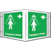 Emergency Shower Projecting 3D Signs