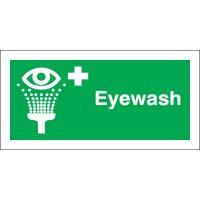 Eyewash Photoluminescent Signs
