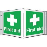 First Aid Projecting 3D Signs