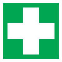 Instantly recognisable first aid (symbols) signs