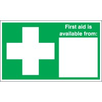 """First Aid Is Available From """" """" Signs"""