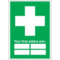 Customisable First Aider Identifier Signs
