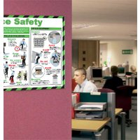 Laminated Paper Office Safety Graphical Information Poster