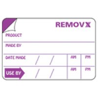 Removx Self-Adhesive Food Rotation Shelf-Life Labels