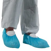 Economical Blue Polyethylene Disposable Safety Overshoes