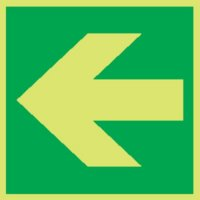 Arrow Left Photoluminescent Signs