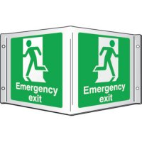 Emergency Exit (Running Man) Projecting 3D Signs