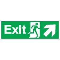 Exit (Arrow Diagonal Right & Up) Signs