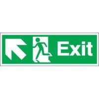 Exit (Arrow Diagonal Left & Up) Signs