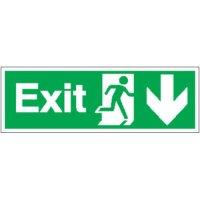 Exit (Arrow Down) Signs