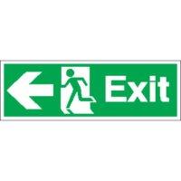 Exit (Arrow Left) Signs