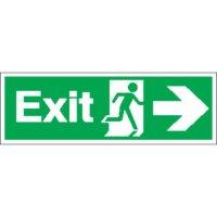 Exit (Arrow Right) Signs