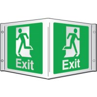Exit (Running Man) Projecting 3D Signs