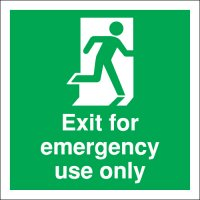 Essential Exit For Emergency Use Only Fire Safety Signs