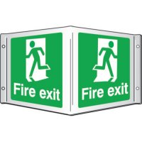 Fire Exit Projecting 3D Signs