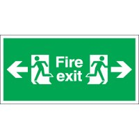 Fire Exit (Arrow Left & Right) Signs