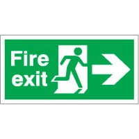 Fire Exit (Arrow Right) Polycarbonate Signs
