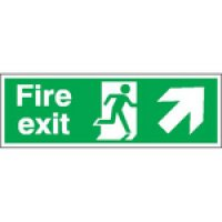 Fire Exit (Arrow Up & Diagonal Right) Signs