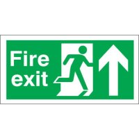 Fire Exit (Arrow Up) Polycarbonate Signs