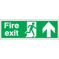 Fire Exit (Arrow Up) Double-Sided Hanging Signs