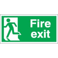 Fire Exit (Running Man Left) Polycarbonate Signs