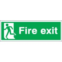 Essential Fire Exit Signs With Left-Facing Running Man Pictogram