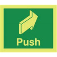 Push Photoluminescent Signs