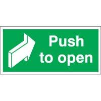 Push To Open Photoluminescent Signs