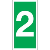 Number 2 Photoluminescent Signs