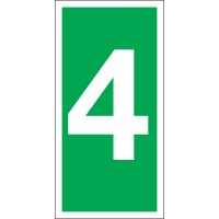Number 4 Photoluminescent Signs