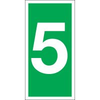Number 5 Photoluminescent Signs