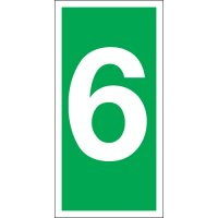 Number 6 Photoluminescent Signs