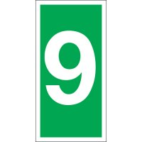 Number 9 Photoluminescent Signs