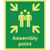 Assembly Point Photoluminescent Signs