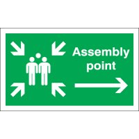 Assembly Point (Arrow Right) Signs