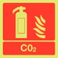 CO2 Extinguisher Photoluminescent Signs