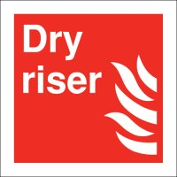 High-Quality Square Red Dry Riser Sign