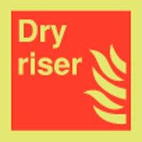 Dry Riser Photoluminescent Signs