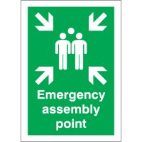 Durable Plastic Emergency Assembly Point Signs