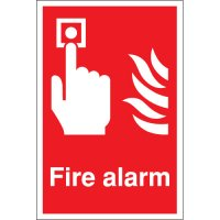 Fire alarm signs to clearly identify where your alarm is located