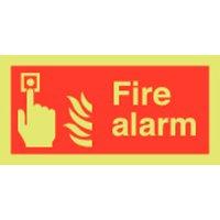 Fire Alarm Photoluminescent Signs