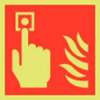 Fire Alarm Symbol Photoluminescent Signs