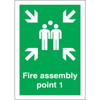 Highly visible fire assembly point 1 signs